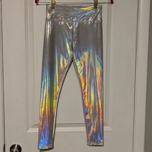 NWT Justice Holographic Leggings